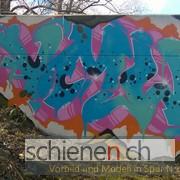 Das Vorbild: Pumpwerk mit Graffiti