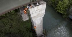 SBB-Brücke über die Reuss bei Mellingen AG