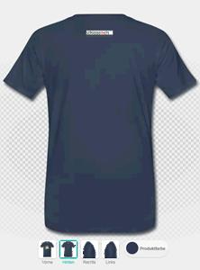 Beispiel: T-Shirt mit Aufdruck, hinten