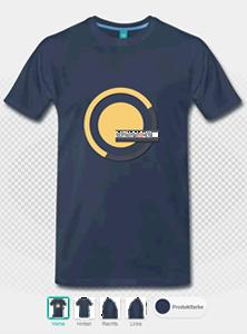 Beispiel: T-Shirt mit Aufdruck, vorne